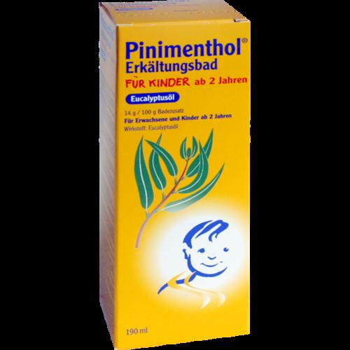 Verpackungsbild(Packshot) von PINIMENTHOL Erkältungsbad f.Kind ab 2 J.Eucalyptus