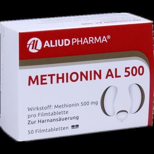 Verpackungsbild(Packshot) von METHIONIN AL 500 Filmtabletten