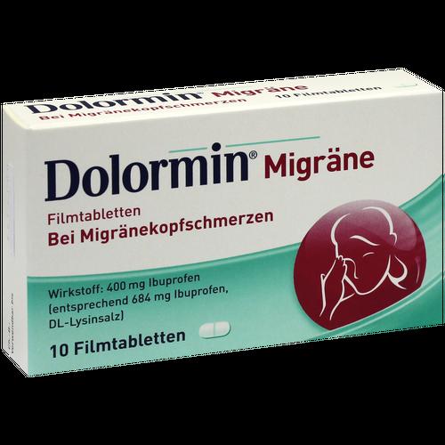 Verpackungsbild(Packshot) von DOLORMIN Migräne Filmtabletten