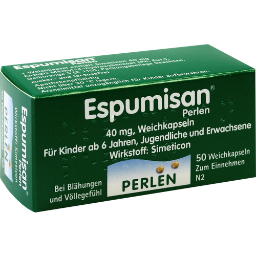 Verpackungsbild(Packshot) von ESPUMISAN Perlen Weichkapseln
