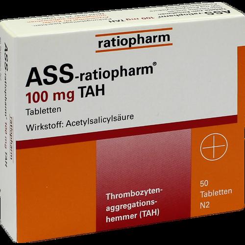 Verpackungsbild(Packshot) von ASS-ratiopharm 100 mg TAH Tabletten