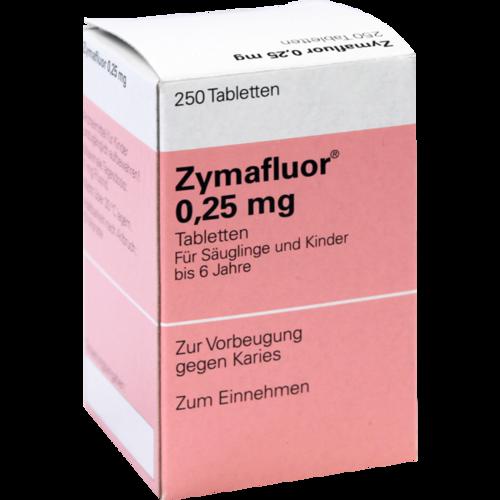 Verpackungsbild(Packshot) von ZYMAFLUOR 0,25 mg Tabletten