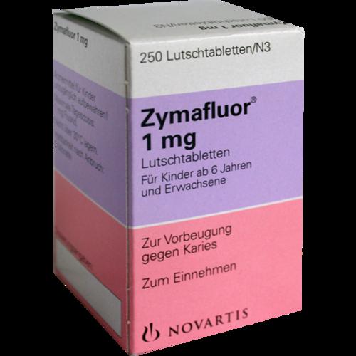 Verpackungsbild(Packshot) von ZYMAFLUOR 1 mg Lutschtabletten