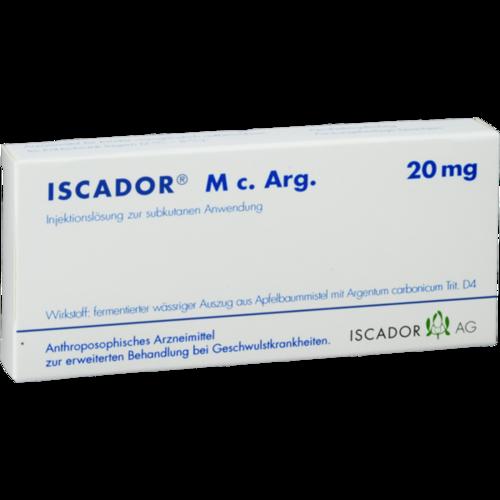 Verpackungsbild(Packshot) von ISCADOR M c.Arg 20 mg Injektionslösung