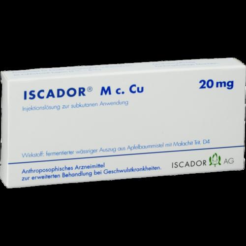 Verpackungsbild(Packshot) von ISCADOR M c.Cu 20 mg Injektionslösung