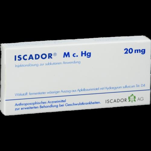 Verpackungsbild(Packshot) von ISCADOR M c.Hg 20 mg Injektionslösung