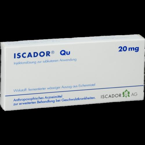 Verpackungsbild(Packshot) von ISCADOR Qu 20 mg Injektionslösung