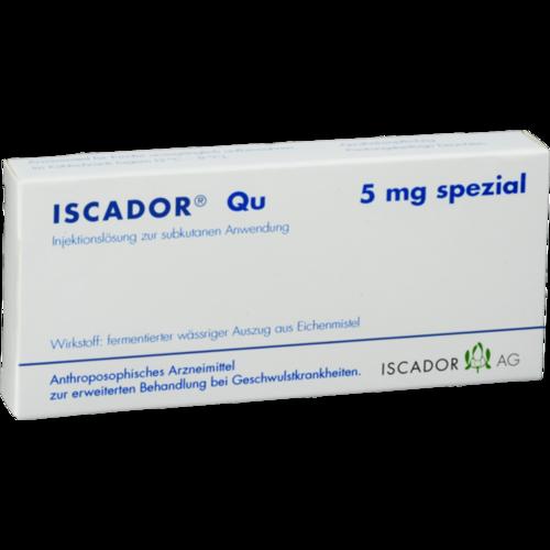Verpackungsbild(Packshot) von ISCADOR Qu 5 mg spezial Injektionslösung
