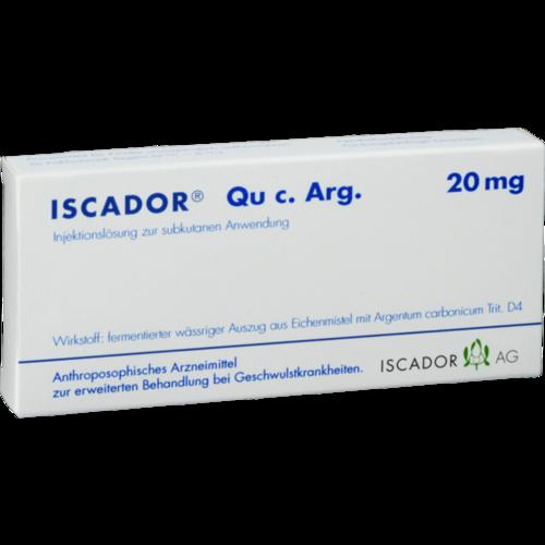 Verpackungsbild(Packshot) von ISCADOR Qu c.Arg 20 mg Injektionslösung