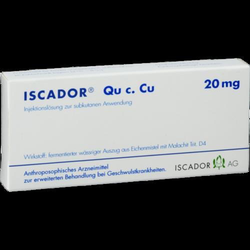 Verpackungsbild(Packshot) von ISCADOR Qu c.Cu 20 mg Injektionslösung