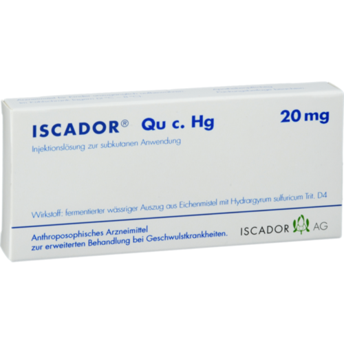 Verpackungsbild(Packshot) von ISCADOR Qu c.Hg 20 mg Injektionslösung