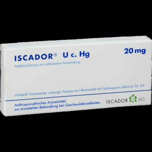 Verpackungsbild(Packshot) von ISCADOR U c.Hg 20 mg Injektionslösung