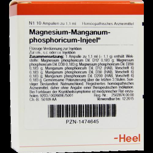 Verpackungsbild(Packshot) von MAGNESIUM MANGANUM phosphoricum Injeel Ampullen