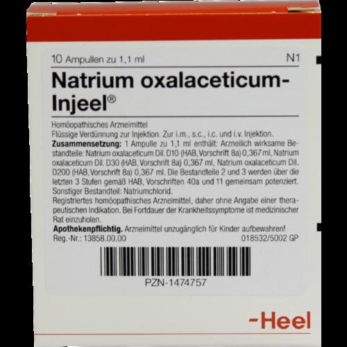 Verpackungsbild(Packshot) von NATRIUM OXALACETICUM Injeel Ampullen