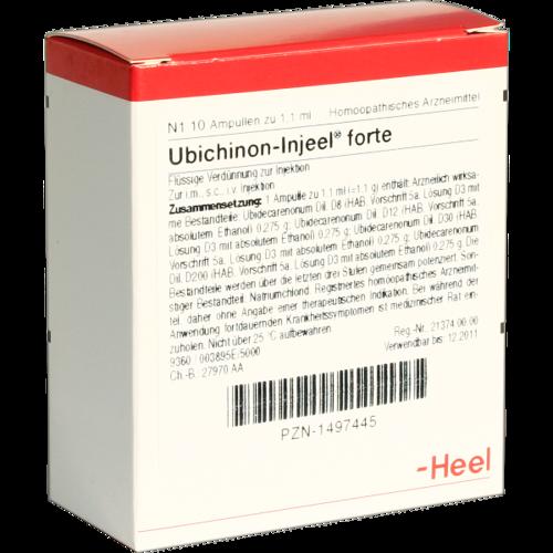 Verpackungsbild(Packshot) von UBICHINON Injeel forte Ampullen