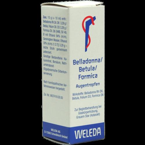 Verpackungsbild(Packshot) von BELLADONNA/BETULA/FORMICA Augentropfen