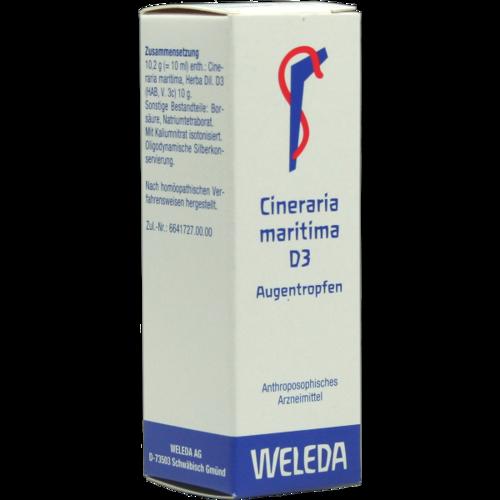 Verpackungsbild(Packshot) von CINERARIA maritima D 3 Augentropfen