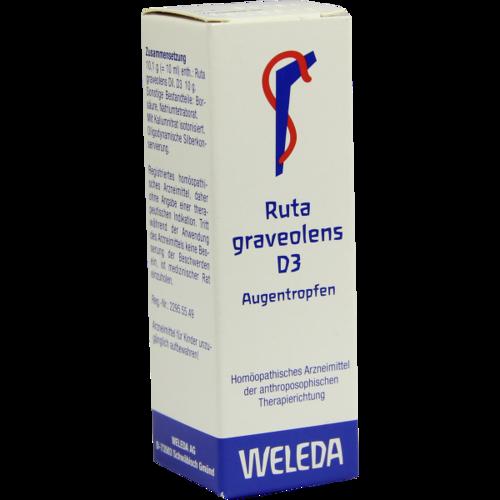 Verpackungsbild(Packshot) von RUTA GRAVEOLENS D 3 Augentropfen