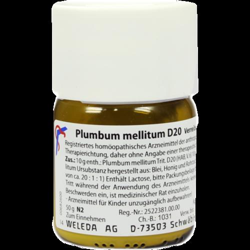 Verpackungsbild(Packshot) von PLUMBUM MELLITUM D 20 Trituration