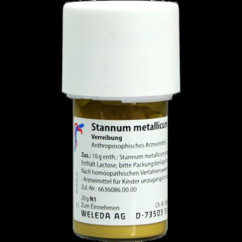 Verpackungsbild(Packshot) von STANNUM METALLICUM praeparatum D 8 Trituration