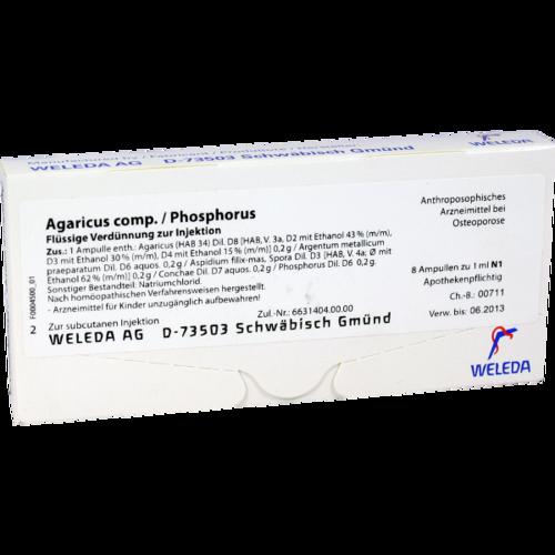 Verpackungsbild(Packshot) von AGARICUS COMP./Phosphorus Ampullen