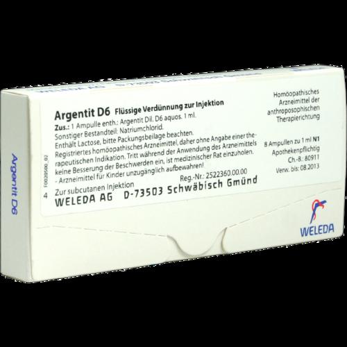 Verpackungsbild(Packshot) von ARGENTIT D 6 Ampullen