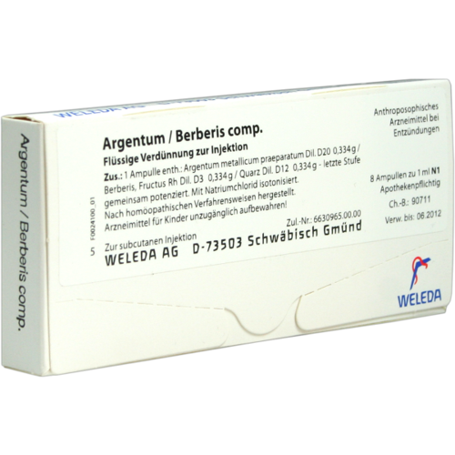 Verpackungsbild(Packshot) von ARGENTUM/BERBERIS comp.Ampullen