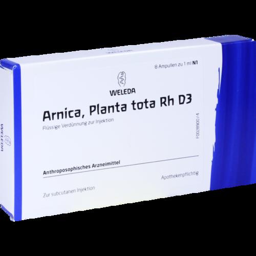 Verpackungsbild(Packshot) von ARNICA PLANTA tota Rh D 3 Ampullen