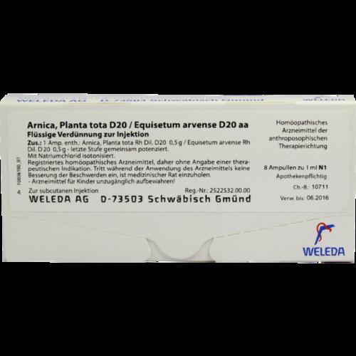 Verpackungsbild(Packshot) von ARNICA PLANTA tota D 20/Equisetum arv.D 20 aa Amp.