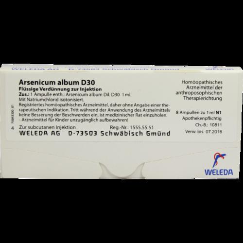Verpackungsbild(Packshot) von ARSENICUM ALBUM D 30 Ampullen