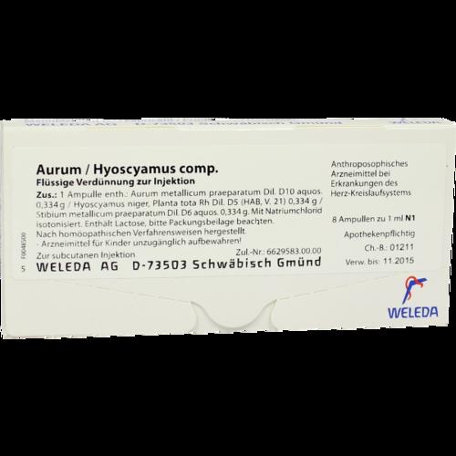Verpackungsbild(Packshot) von AURUM/HYOSCYAMUS comp.Ampullen