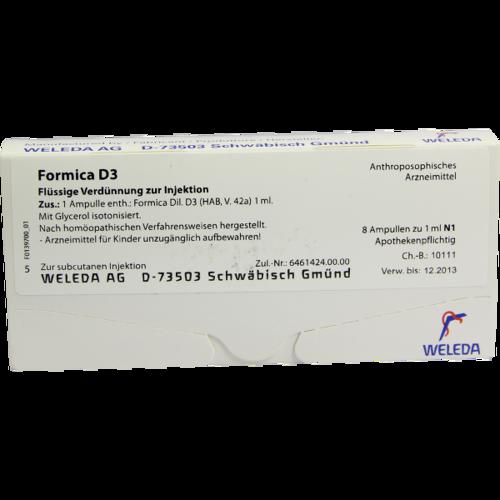 Verpackungsbild(Packshot) von FORMICA D 3 Ampullen