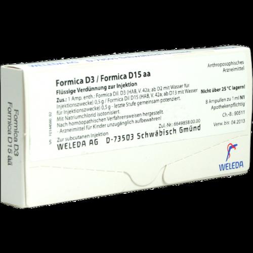 Verpackungsbild(Packshot) von FORMICA D 3/Formica D 15 aa Ampullen