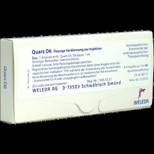 Verpackungsbild(Packshot) von QUARZ D 6 Ampullen