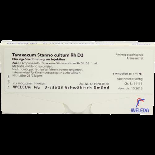 Verpackungsbild(Packshot) von TARAXACUM STANNO cultum RH D 2 Ampullen