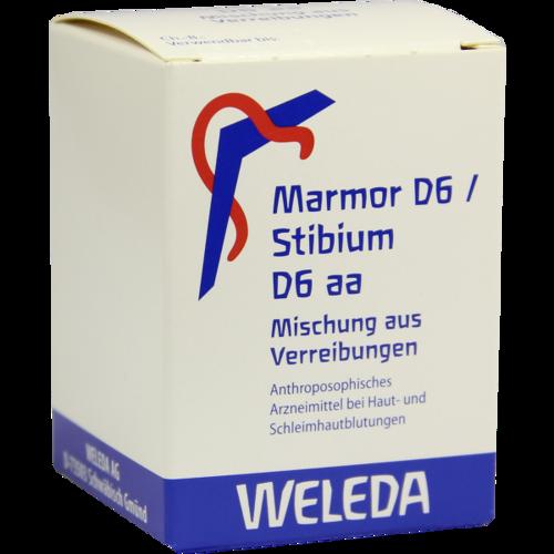 Verpackungsbild(Packshot) von MARMOR D 6/Stibium D 6 aa Trituration