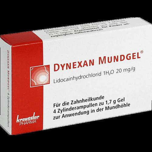 Verpackungsbild(Packshot) von DYNEXAN Mundgel Zylinderampullen