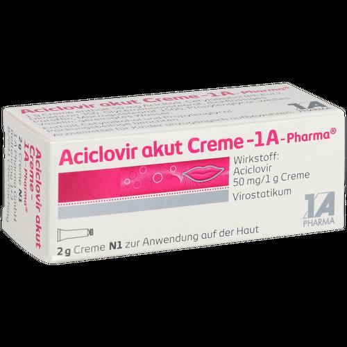 Verpackungsbild(Packshot) von ACICLOVIR akut Creme-1A Pharma