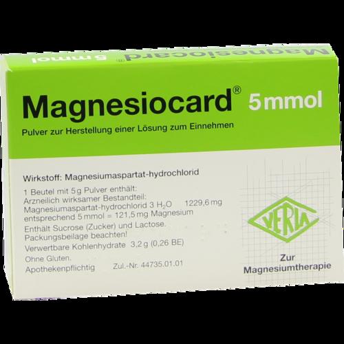 Verpackungsbild(Packshot) von MAGNESIOCARD 5 mmol Plv.z.Her.e.Lsg.z.Einnehmen