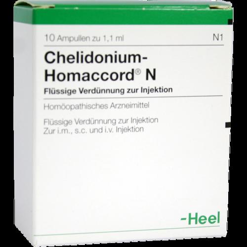 Verpackungsbild(Packshot) von CHELIDONIUM-HOMACCORD N Ampullen