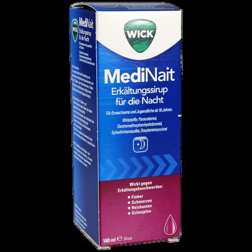 Verpackungsbild(Packshot) von WICK MediNait Erkältungssaft