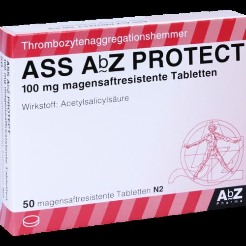 Verpackungsbild(Packshot) von ASS AbZ PROTECT 100 mg magensaftresist.Tabl.