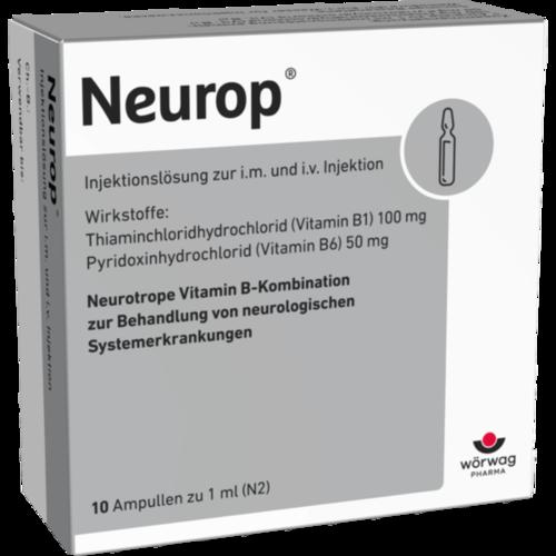 Verpackungsbild(Packshot) von NEUROP Injektionslösung Ampullen
