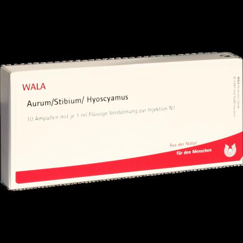 Verpackungsbild(Packshot) von AURUM/STIBIUM/Hyoscyamus Ampullen