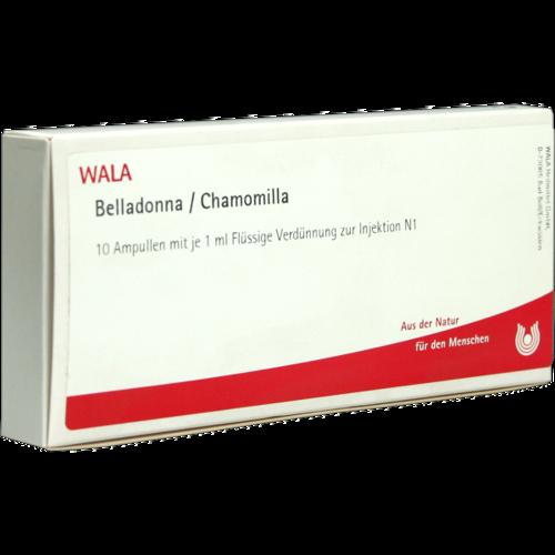 Verpackungsbild(Packshot) von BELLADONNA CHAMOMILLA Ampullen