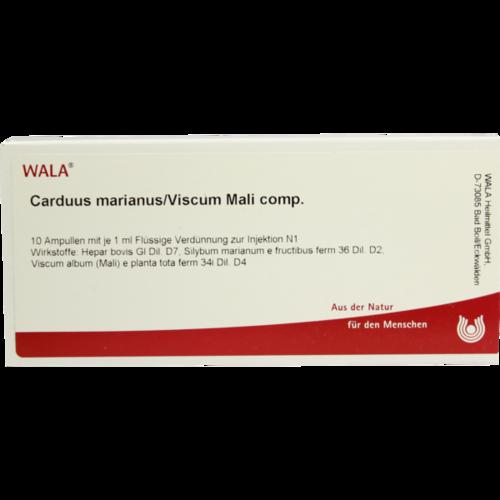 Verpackungsbild(Packshot) von CARDUUS MARIANUS/VISCUM mali comp.Ampullen