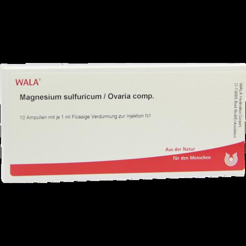 Verpackungsbild(Packshot) von MAGNESIUM SULFURICUM/Ovaria comp.Ampullen