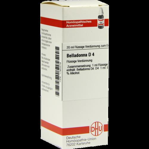 Verpackungsbild(Packshot) von BELLADONNA D 4 Dilution