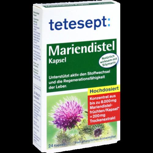 Verpackungsbild(Packshot) von TETESEPT Mariendistel-Kapseln