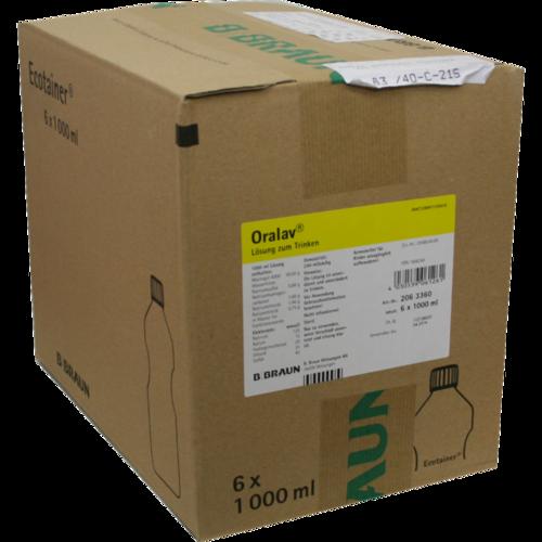 Verpackungsbild(Packshot) von ORALAV Darmspüllösung Ecotainer Lsg.z.Einnehmen